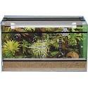 Terrarium Set 60 με Φώς & Λάμπα Θερμαντική (Σπιτάκι-Υπόστρωμα-Θερμόμετρο-Διακοσμητικά) 60 x 30 x 40cm