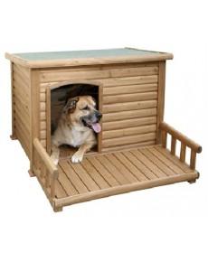 Σπίτι σκύλου με βεράντα ξύλινο  113 x 132 x 83cm