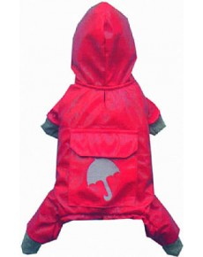 Αδιάβροχο σκυλου Red small DR050