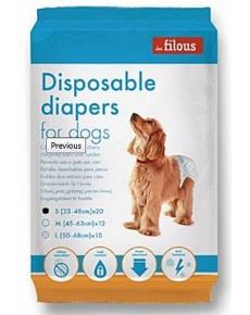 Les Filous Πάνα βρακάκι Σκυλου Medium 12τεμ