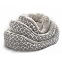 Κρεβατακι Hamptons με γούνα grey large
