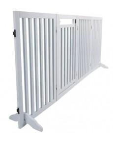Trixie Πύλη ασφαλείας σκυλιών 4-μερών, με μικρή πόρτα  60-160 × 81 εκ