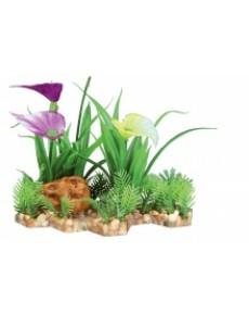 Πλαστικό Φυτό με Βάση Χαλικι για το ενυδρείο 13 εκατοστά