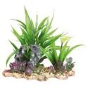 Πλαστικό Φυτό με Βάση Χαλίκι για το ενυδρείο 18 εκατοστά