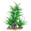 Πλαστικό Φυτό με Βάση Χαλίκι για το ενυδρείο 28 εκατοστά