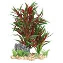 Πλαστικό Φυτό με Βάση Χαλίκι για το ενυδρείο 28 εκατοστά Β